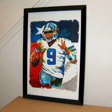Tony Romo, Dallas Cowboys, Quarterback, Football, Sports -TOP Abstract oil painting-100% hand painted 24x36 inch-free shipping(China)