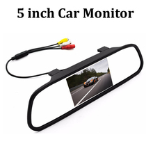 "hot sell 5"" TFT LCD 16:9 800x480 screen Car Reverse Mirror Monitor  display DC 12V for DVD rear view camera VCR"
