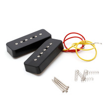 1PC Guitar Parts Pickups Black Soap Bar Pickups For LP P90 Electric Guitar Facilitated Installation Guitars Basses Accessories(China)
