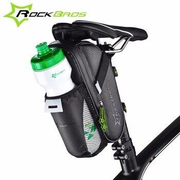 ROCKBROS Vélo Vélo Étanche Arrière Sac Avec Poche pour Bouteille D'eau Vélo Queue Sac de Selle de Vélo De Poche de Vélo Accessoires