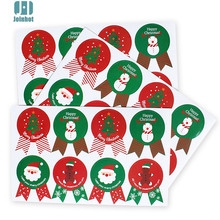 80pcs Paper Sticker New Christmas Label Gift Package Sealing Stickers for Cookie,Candy,Nuts Package,Christams santa tree