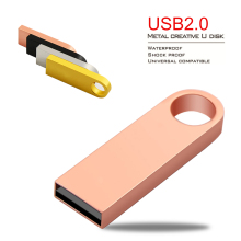 Key Ring USB Flash Drive 4GB 16GB 32GB 64GB USB Pen drive Metal Waterproof 128GB USB Flash Drives Pendrive 8gb Memory Stick(China)