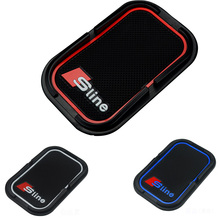 KUNBABY Anti-Slip Mat Sline 3D Mobile Phone GPS Holder Non Slip Pad S Line Emblem Badge for Audi A3 A4 B7 B8 A6 C5 A5 Q5 Q7 S7