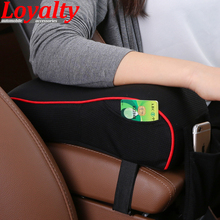 Loyalty Armrest Pad Universal Auto Interior Memory Cotton Motile Soft Large Storage For mobile Car Armrest Box Heighten Pad(China)