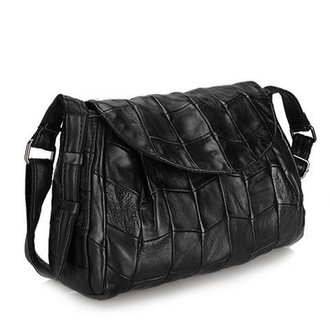 Retro stitching Messenger Bag Sheepskin Leather Chain Shoulder Genuine Leather  Women Bag Crossbody Small Ladies Bag<br><br>Aliexpress