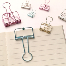 Free Shipping Cute Kawaii Colorful Large Metal Paper Clips For Photo Message Office Accessories School Supplies 6611(China)