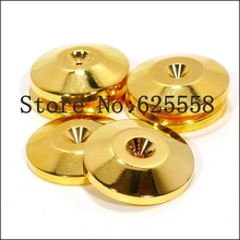 5MM Gold Plated Speaker Spike Mat Base Pad Shoe Isolation 4PCS