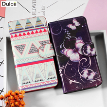 DULCII Bag for Lenovo A 2010 Phone Case PU Leather Card Holder Stand Cover for Lenovo A2010 August 2010 Smartphone Fundas Cases