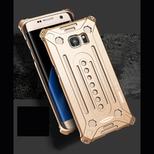 Luxury Full Covered Anti-knock Metal Aluminum  Protective Back Cover Case For Samsung Galaxy S7 & S7 Edge with Screw Driver
