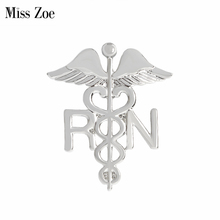 REGISTERED NURSE brooch pins Collar Corsage Gift for Doctors Nurse Physicians Medical Student Graduation Angel wings Jewelry