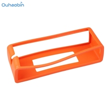 Ouhaobin Popular Speaker Soft Cover Silicone Carrying Case For BOSE SOUNDLINK MINI Opaque Orange Speaker Protect Case Set21(China)