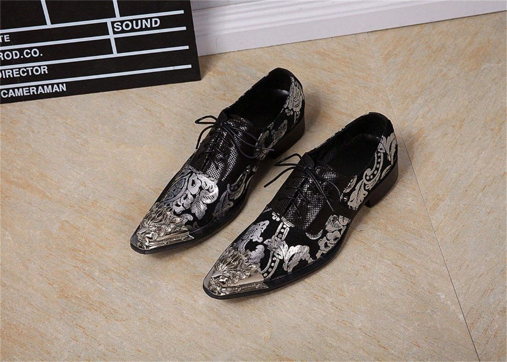New Released Metal Toe Shoes Mens Lace Up British Style Oxford Rubber Sole Natural Cow Leather Dress Shoes 823-1<br><br>Aliexpress