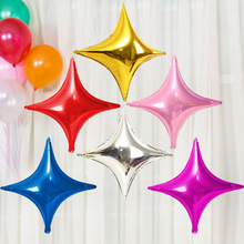 10pcs/Lot Wholesale 10inch Four Corners Star Foil Balloons for Baby Birthday Party Decoration Inflatable Star Air Globos