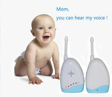 Hot Wireless Baby Audio Monitor Kits 2 Way Radio LED Baba Electronic baby sitter(China)
