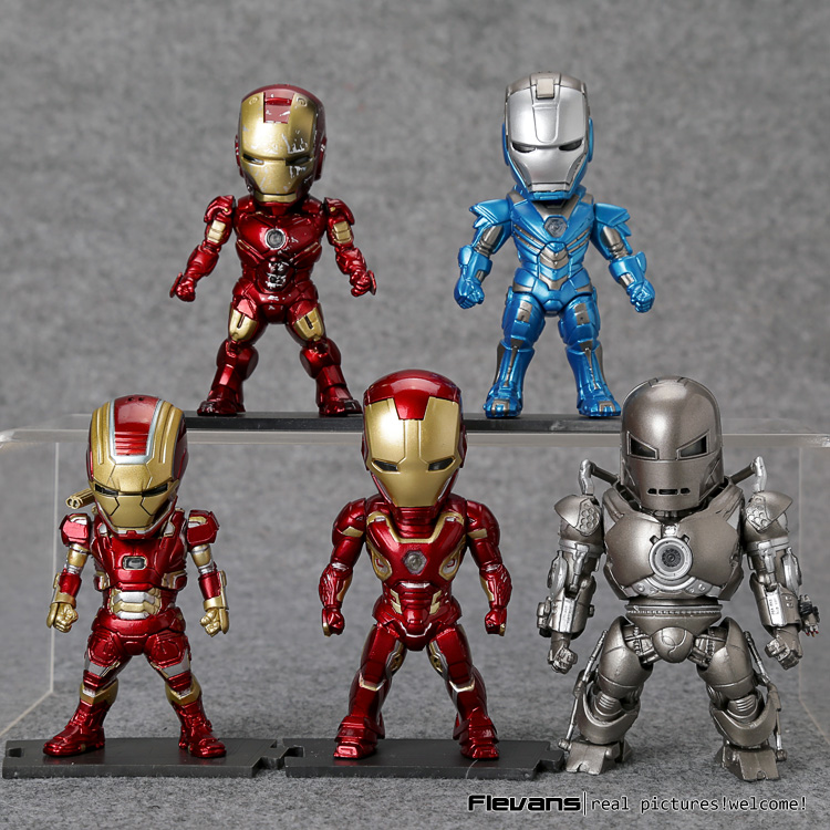 Iron Man Light &amp; Action Function Monger Iron Patriot Mark XXX XLV IV Figures Toys 5pcs/set<br>