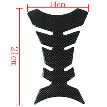 Hot Sale Carbon Fiber 3D Motorcycle Tank Pad Tankpad Protector Sticker For Honda kawasaki yamaha suzuki bmw Universal Fishbone(China)