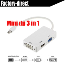 Thunderbolt/mini displayport-DP to VGA mini dp to hdmi mini dp to dvi adapter converter cable for apple macbook pro air