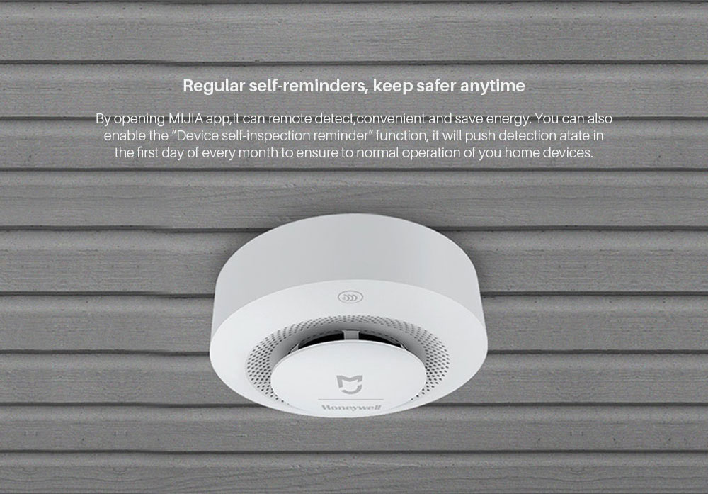 Xiaomi Mijia Honeywell Fire Alarm Detector GasSmoke Sensor work with Multifunction gateway 2 Smart Home security APP control (3)