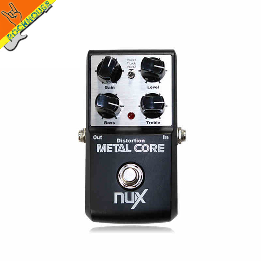 NUX METAL CORE Metal Distortion Pedal Guitar Distortion Effects Pedal Built-in Noise Gate with Tone Lock Function free shipping<br>