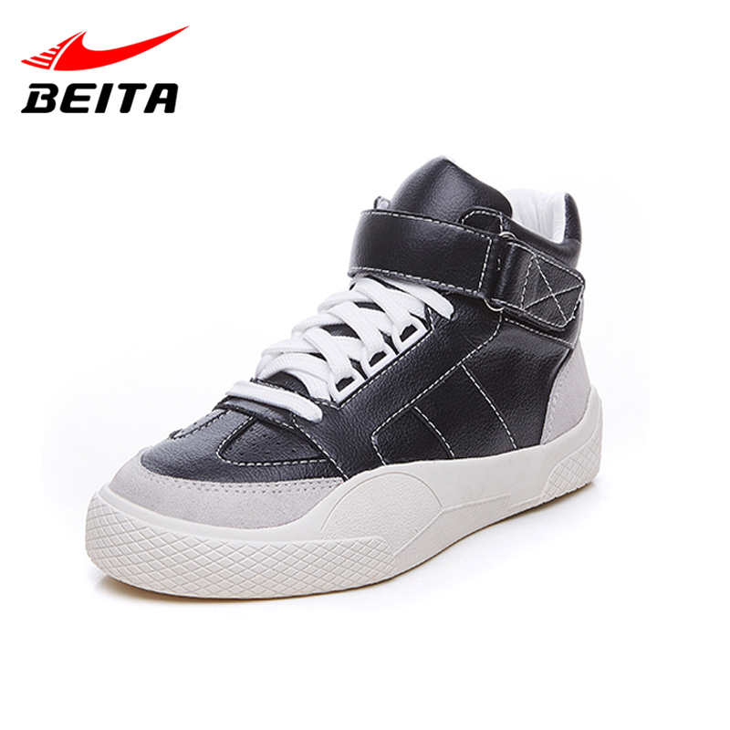 Beita High Quality Leather Sneakers for Women with Shoelaces Hook loop Rubber Soles Women Casual Shoes Flats Platform Size 35-39<br>