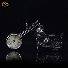 Fashion Table Ideas Gift Ideas Old Clock New Coming Handmade Bronze Color Metal Motorcycle Model