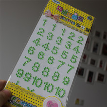 Hot Sale Top Fashion Digital Diy Stickers Children Light Self Adhesive Crystal Sticker,wholesale Scrapbooking
