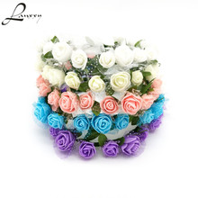Lanxxy Adjustable Flowers Headband Girls Bridal Wedding Hair Accessories Women Fashion Hairbands Floral Crowns Wreath Hairwear(China)
