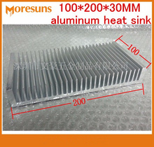 Fast Free Ship Super cooling radiator 100*200*30MM aluminum heat sink(China)