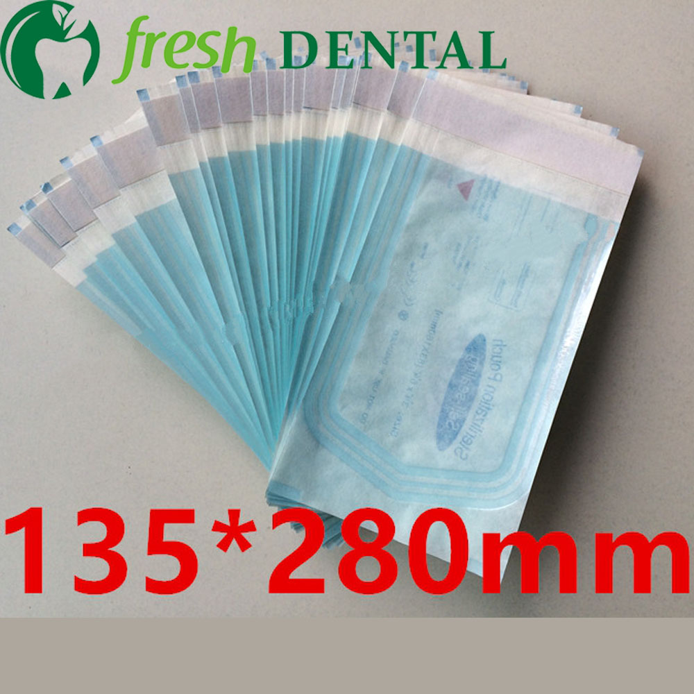 1Pc Dental Disinfection sterilization ziplock bags 135*280mm self-sealing tape self-styled sterilized bag reel SL434<br>