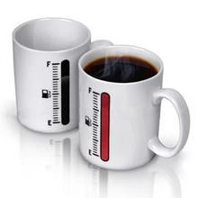Free shipping 48pcs/lot Thermometer Color Changing Mug Cup Temperature Changing Wholesale