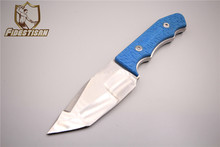 D2 fixed steel blade camping outdoor survival knife tactical knifes tool knife blue handle multi sharp convenient triangle head