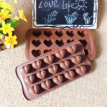 Silicone Heart chocolate molds ice cube mold delicate household bakeware cake moulds SICM-215-5