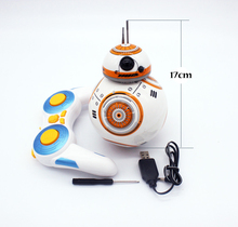 New Hot sales 17cm Star Wars 7 RC BB-8 Robot Star Wars 2.4G remote control BB8 robot intelligent small ball rc monster(China)
