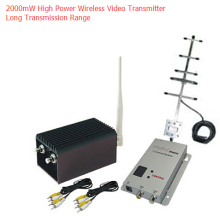 20km Long Distance Wireless Transmitter 8 Channels 1.2Ghz Video Transmitter with 2000mW High Power CCTV Wireless Video Sender