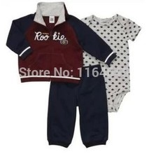 LSL3-018, New Collect, 3-Piece Clothing Sets, Baby Boys and Girls Cute Suit for Spring And Autumn, Original, Free Shipping