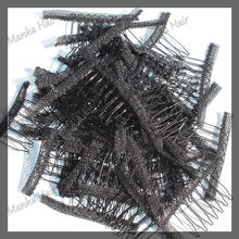 Wholesale Lace Wrap 6 Teeth Combs Wire Spring Comb Wig Add to Wig Cap Clip Snap For Wig/Hair Weft/Hair Weave 20pcs/lot