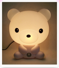 Baby Room Night Light Bear Cartoon Kids Sleeping Bed Lamp Night Sleeping Lamp Best for Gifts EU/US Plug