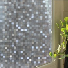 2017 New 3D Big Mosaic Design Frosted Static Cling Privacy Decal Glass Window Vinyl Film Free shipping Length 100cm