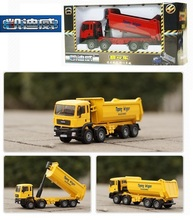 Gift Package toys for children Alloy materials Car model Dump truck alloy truck model 1:50 alloy truck dump truck
