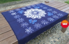 Tie dye Unique Original Design flower and butterfly Decorations / Handmade Shibori Table Cloth Many Uses Mats pads Cover /Export(China)
