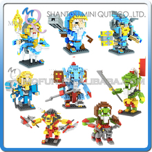 Mini Qute LOZ 8 styles Game monster boys collection model plastic building block brick kids educational toy - Reians Educational Gift Store store