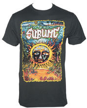 Custom Printed Shirts Gildan Crew Neck New Style Short Sleeve Sublime Band Under The Sea Sun Logo Mens Tee Shirt(China)