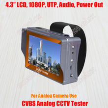 "4.3"" LCD CVBS Analog Camera CCTV Tester Monitor Video Audio PTZ DC 12V 5V Out UTP RJ45 Cable Test Rechargeable Battery"