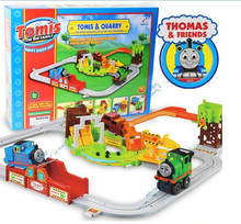 Mining Field electric Thomas train, senior extension rail cars, train tracks toys, retail, wholesale, free shipping