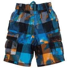 NOVA kids wear hot sale fashion plaid design with cool boy  pattern embroidery casual shorts for 2-6y bay boys short wholesale