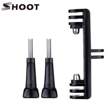 SHOOT Double Bracket Bridge Connector with Screw For Gopro hero 4 3+ 4s 3 Xiaoyi SJ4000 SJ5000 SJ6000 Selfie Holder Mount