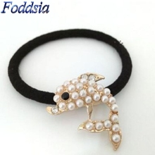 Foddsia 1PCS Cute Bowknot Elastic Hair Bands For Women Scrunchy Leather headbands For Women Hair Accssory R5(China)