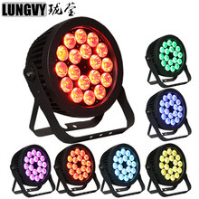 Free Shipping 8pcs/lot 18x18W RGBWA UV 6IN1 Led Par Party Lights outdoor Led Par DJ Disco Light DJ Equipments Controlleri