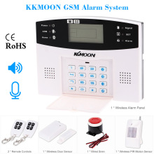 KKMOON 106 Wired/Wireless Defense Zones GSM SMS Home Security Alarm System Door Sensor Kit LCD Speaker Keyboard Sensor