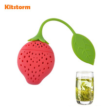Silicone Strawberry Tea Infuser Loose Leaf Tea Strainer Herbal Spice Infuser Filter Tools(China)